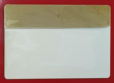 Abbildung 1: versilbertes Muster direkt nach der Beschichtung